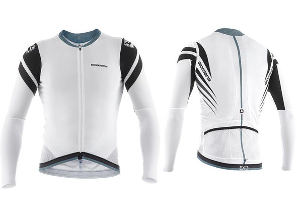 Giordana EXO Long Sleeve Cycling Jersey White Ti - Classic Cycling