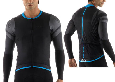 Giordana EXO Long Sleeve Jersey- Black - Classic Cycling