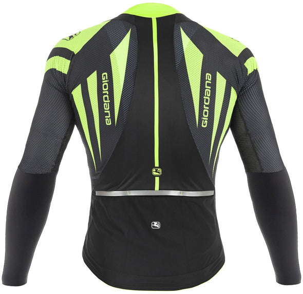 Giordana EXO Long Sleeve Jersey - Black-Fluo - Classic Cycling