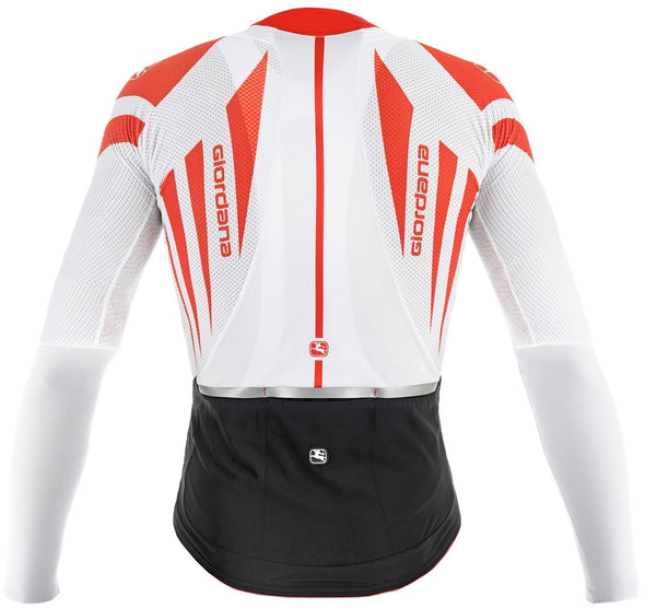 Giordana EXO Long Sleeve Jersey - White-Red - Classic Cycling