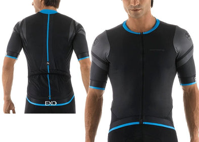 Giordana EXO Short Sleeve Jersey - Black - Classic Cycling