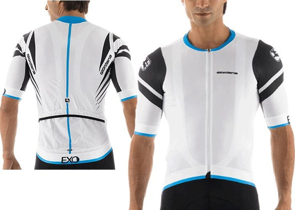 Giordana EXO Short Sleeve Jersey - White - Classic Cycling