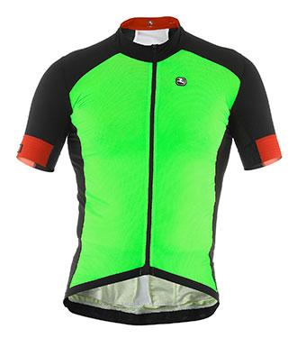 Giordana FR-C Forma Red Carbon Summer Jersey Fluo Green - Classic Cycling