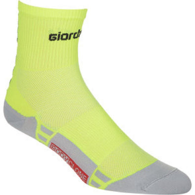 Giordana FR-C Mid Cuff Sock - Fluo Yellow-Black - Classic Cycling