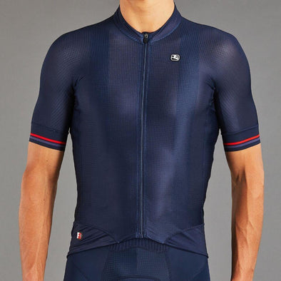 Giordana FR-C Pro S-S Jersey - Navy Blue with Red accents - Classic Cycling
