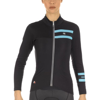 Giordana FR-C PRO Women's Thermal Long Sleeve -  Black-Light Blue - Classic Cycling