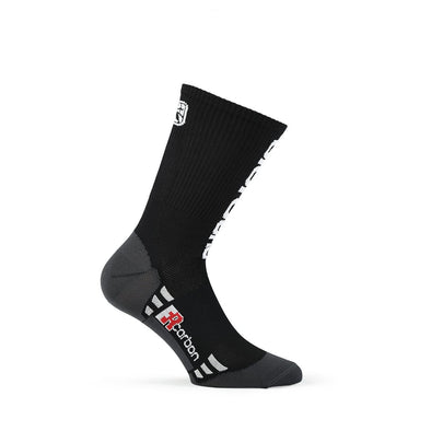 Giordana FR-C Sock, Tall Cuff - Black-White - Classic Cycling