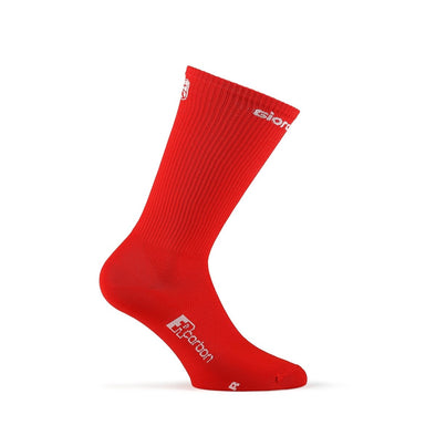"Giordana FR-C Sock, Tall Cuff - ""SOLID"" Red - Classic Cycling"