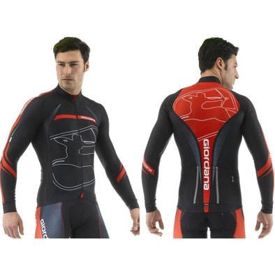 "Giordana FR-C Trade Cycling Jacket ""Predator"" Black Red - Classic Cycling"