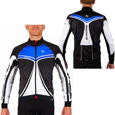 "Giordana FR-C Trade Cycling Jacket ""Wings"" Blue - Classic Cycling"