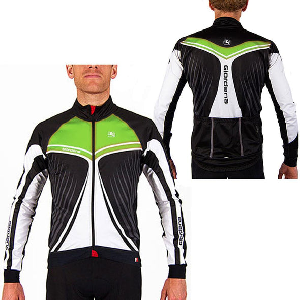 "Giordana FR-C Trade Cycling Jacket ""Wings"" Green - Classic Cycling"