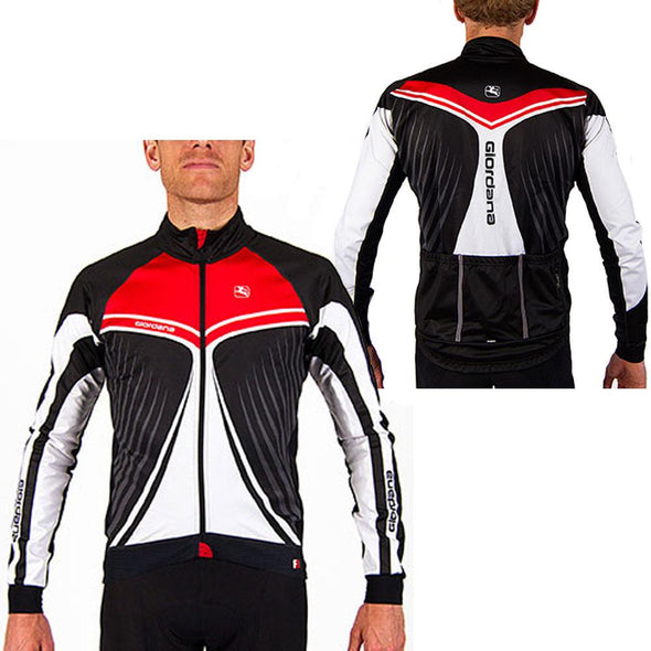 "Giordana FR-C Trade Cycling Jacket ""Wings"" Red - Classic Cycling"