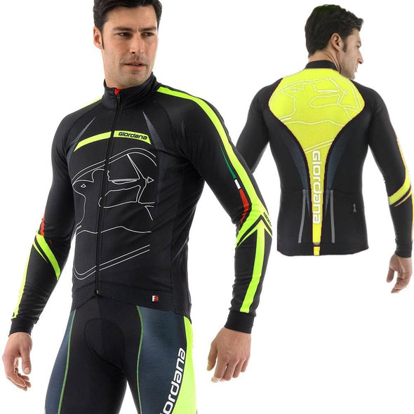 "Giordana FR-C Trade Long Sleeve Jersey ""Predator"" Fluo - Classic Cycling"