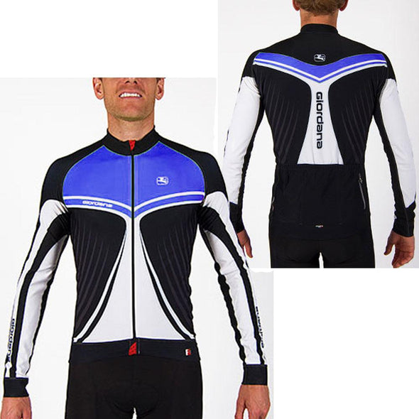 Giordana FR-C Trade Long Sleeve Jersey Wings Blue - Classic Cycling
