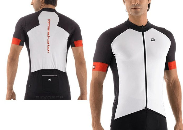 Giordana FRC Forma Red Carbon Short Sleeve Jersey White - Classic Cycling