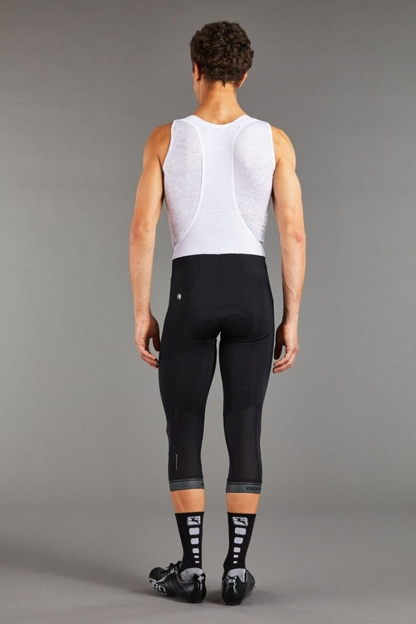 Giordana Fusion Bib Knicker - Black with reflective leg band - Classic Cycling