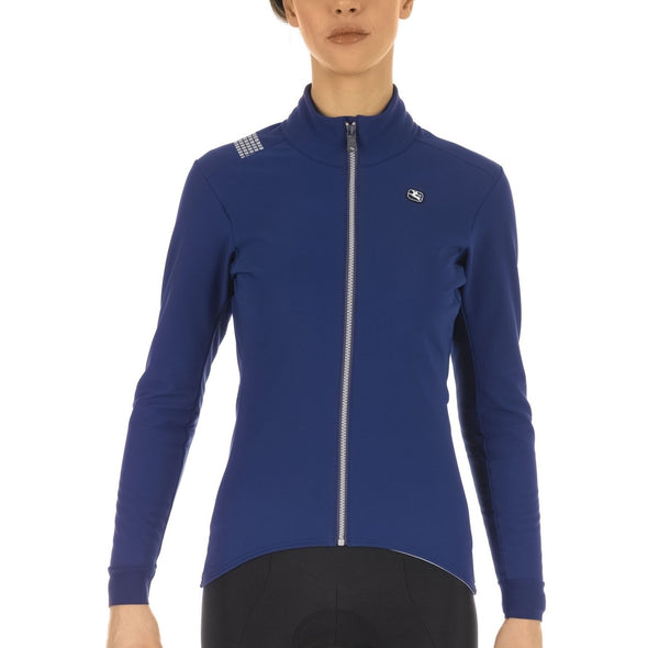 Giordana FUSION Jacket - Women's - Blue-Silver - Classic Cycling