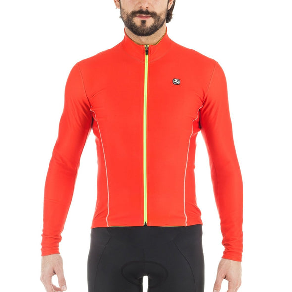 Giordana Fusion Long Sleeve Jersey - Red - Classic Cycling