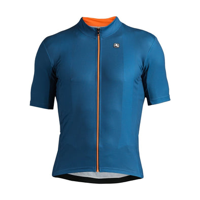 Giordana Fusion  Short Sleeve Jersey - Blue-Orange - Classic Cycling