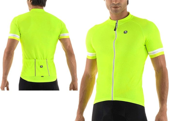 Giordana Fusion Short Sleeve Jersey - Fluorescent - Classic Cycling