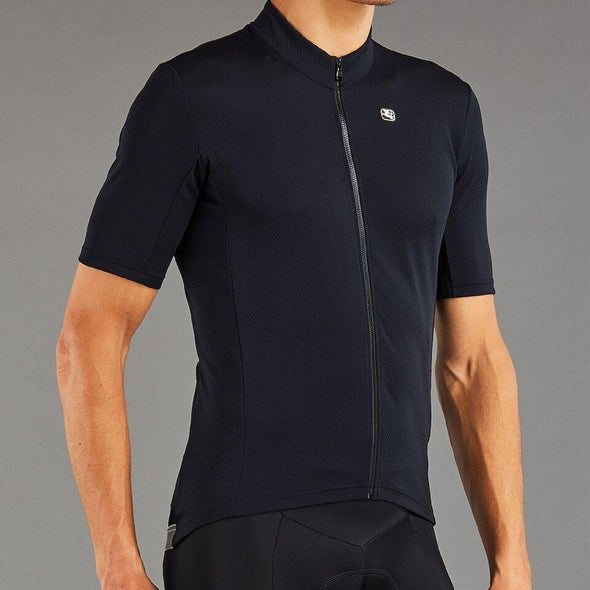 Giordana Fusion  Short Sleeve Jersey - Full Black - Classic Cycling