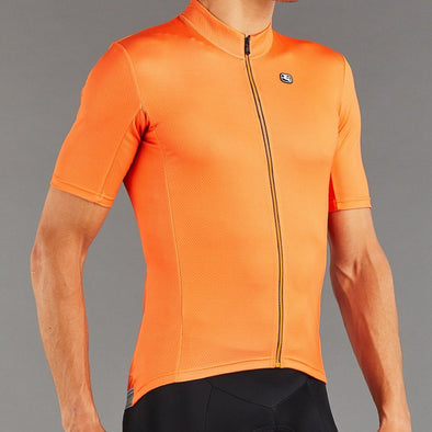 Giordana Fusion  Short Sleeve Jersey - Full Cantaloupe Orange - Classic Cycling