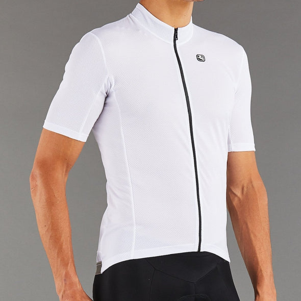 Giordana Fusion  Short Sleeve Jersey - White with Black accents - Classic Cycling