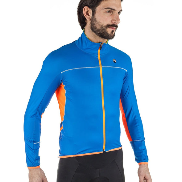 Giordana Fusion Winter Jacket - Blue - Classic Cycling