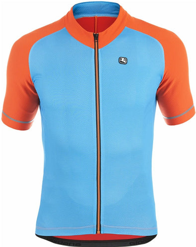 Giordana Lungo Short-Sleeved Jersey - Blue - Classic Cycling