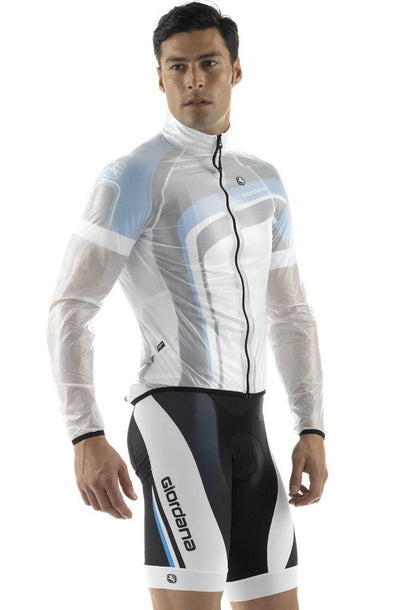Giordana Rain Jacket Transparent White - Classic Cycling