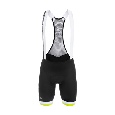 Giordana Silverline Bib Short - Black-Fluo - Classic Cycling
