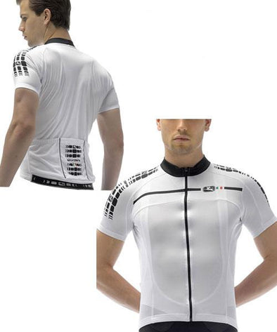 Giordana Silverline Jersey White - Classic Cycling