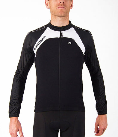 Giordana Silverline Long Sleeve Jersey Black - Classic Cycling