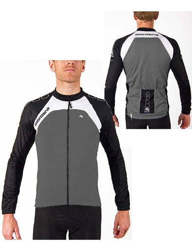 Giordana Silverline Long Sleeve Jersey Gray - Classic Cycling