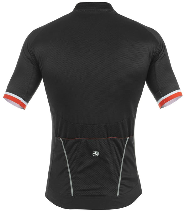 Giordana SilverLine Short Sleeve Jersey - Black - Red - Classic Cycling