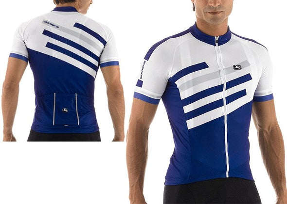 Giordana SilverLine Short Sleeve Jersey Blue - Classic Cycling