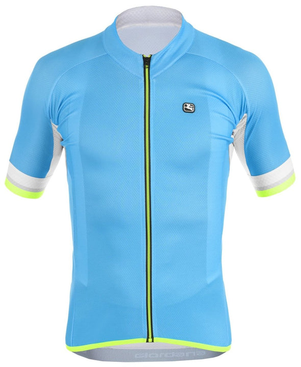 Giordana SilverLine Short Sleeve Jersey - Blue - White - Classic Cycling
