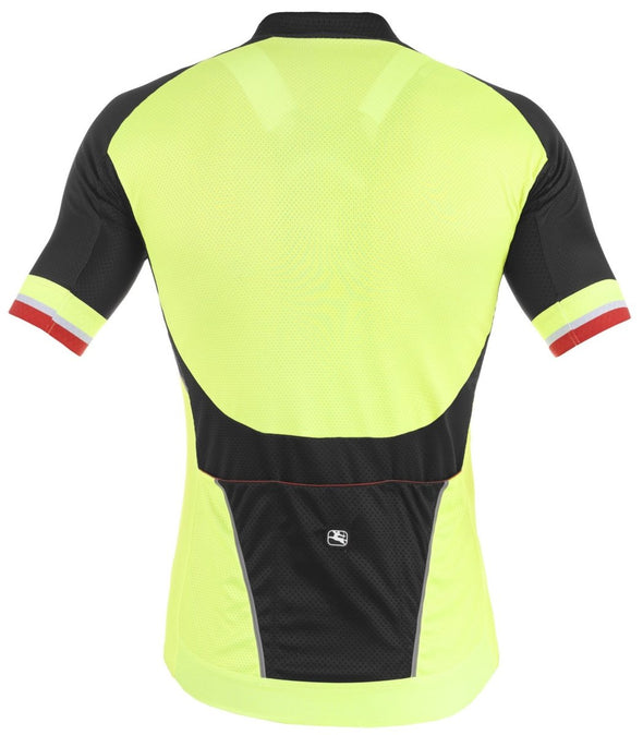 Giordana SilverLine Short Sleeve Jersey - Fluo - Black - Classic Cycling
