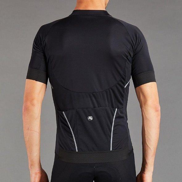 Giordana SilverLine Short Sleeve Jersey - Full Black - Classic Cycling