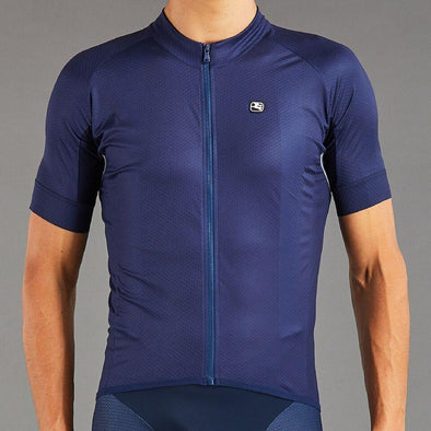Giordana SilverLine Short Sleeve Jersey - Full Navy - Classic Cycling