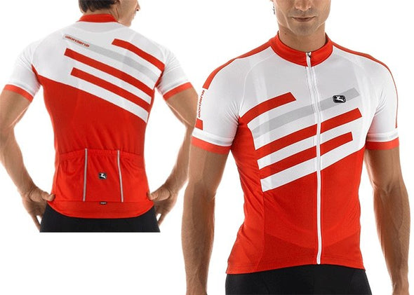 Giordana SilverLine Short Sleeve Jersey Red - Classic Cycling