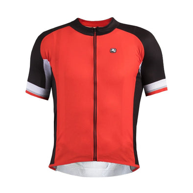 Giordana Silverline Short Sleeve Jersey - Red-Black - Classic Cycling
