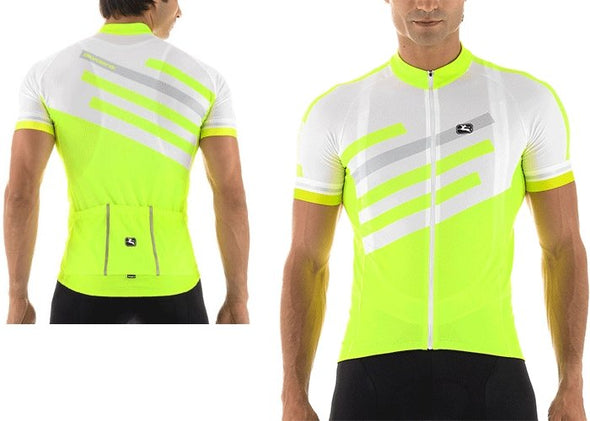 Giordana SilverLine Short Sleeve Jersey White-Fluorescent - Classic Cycling