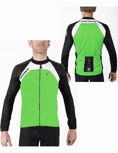 Giordana Silverline Thermal Cycling Jacket - Fluo Green - Classic Cycling