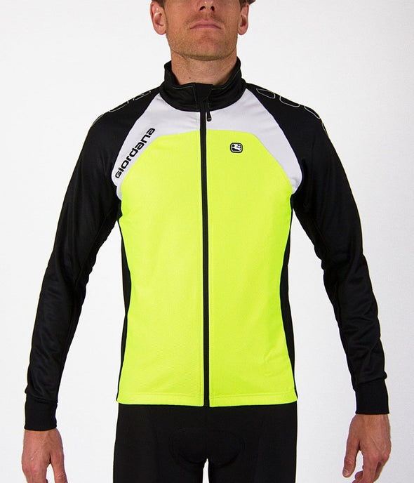 Giordana Silverline Thermal Cycling Jacket - Fluorescent Yellow - Classic Cycling