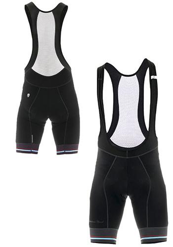 Giordana Sport Bib Shorts - Black-Blue - Classic Cycling