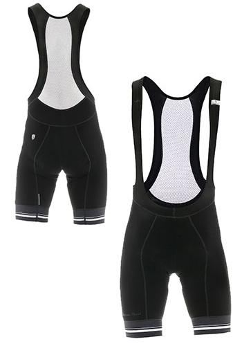 Giordana Sport Bib Shorts - Black-White - Classic Cycling
