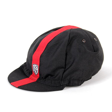 Giordana Sport Cycling Cap - Black Red - Classic Cycling