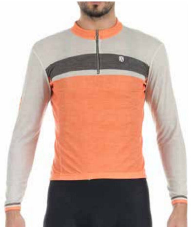 Giordana Sport Elite Short Sleeve Jersey - Beige-Orange-Grey - Classic Cycling