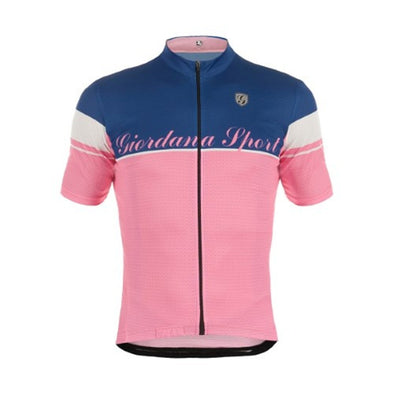 Giordana Sport Elite Short Sleeve Jersey - Blue-Pink - Classic Cycling